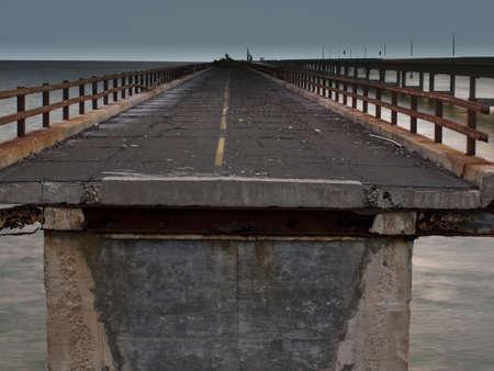 The Seven Mile Bridge is a famous bridge in the Florida Keys. photo