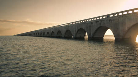 The Seven Mile Bridge is a famous bridge in the Florida Keys. photo