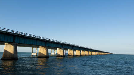 The Seven Mile Bridge is a famous bridge in the Florida Keys. Stock Photo - 12445664