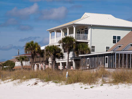 mexico beach: Beach houses at Mexico Beach, Florida. Editorial
