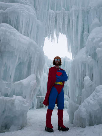 man in his Fortress of Solitude.