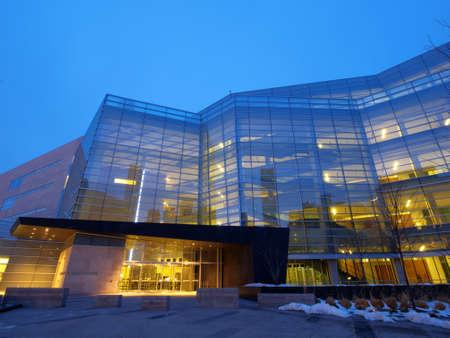 Lindsey-Flanigan Courthouse before sunrise. Editorial