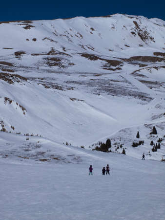Skiing at Loveland Basin, Colorado. photo