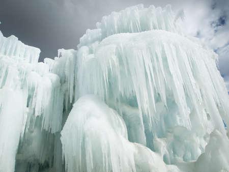Castillos de hielo de Silverthorne, Colorado. Foto de archivo - 12740015