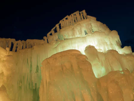 Ice Castles of Silverthorne, Colorado. photo