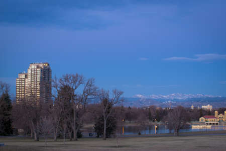 Denver skyline at blue hour. photo