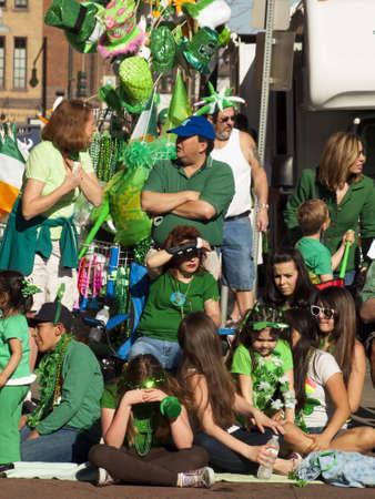 patrics: 2012 St Patricks Day Parade on Blake Street in Denver, Colorado.