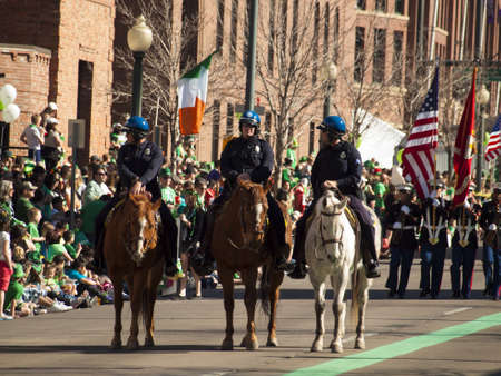 irish culture: 2012 St Patricks Day Parade on Blake Street in Denver, Colorado.