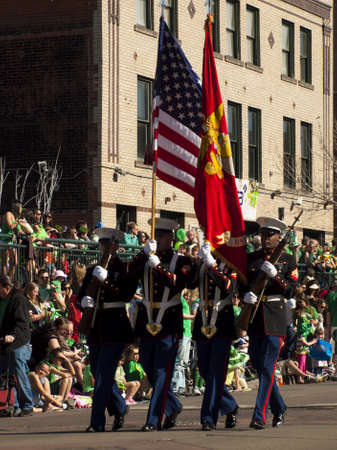 2012 St Patrick's Day Parade on Blake Street in Denver, Colorado. Stock Photo - 12768282