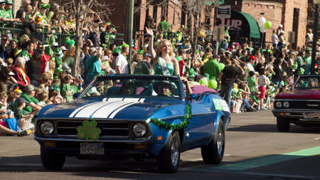 2012 St Patrick's Day Parade on Blake Street in Denver, Colorado. Stock Photo - 12768265