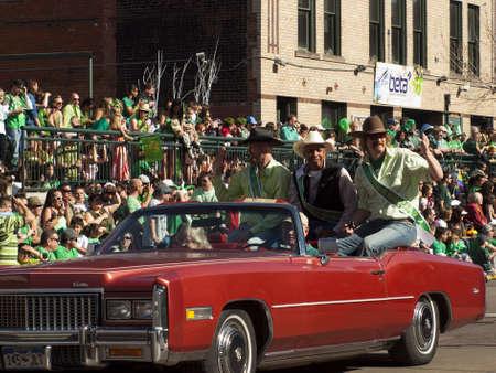 2012 St Patricks Day Parade on Blake Street in Denver, Colorado.