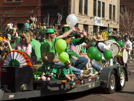 2012 St Patrick's Day Parade on Blake Street in Denver, Colorado.