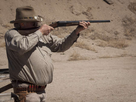 Cowboy Action Shooting Club. The firearms used are based on those which existed in the 19th century American West, i.e. lever action rifle, single action revolver, and shotgun.