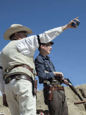 existed: Cowboy Action Shooting Club. The firearms used are based on those which existed in the 19th century American West, i.e. lever action rifle, single action revolver, and shotgun.