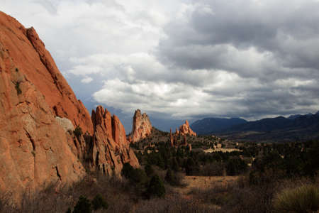 Sunset at Garden of the Gods Rock Formation in Colorado. Stock Photo - 13210004