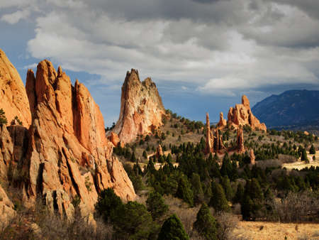 �rock formation�: Sunset at Garden of the Gods Rock Formation in Colorado.