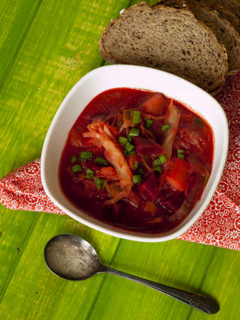 Russian and ukrainian red soup Stock Photo - 13269639