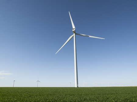 Wind turbines farm in Limon, Colorado. Stock Photo - 13349984