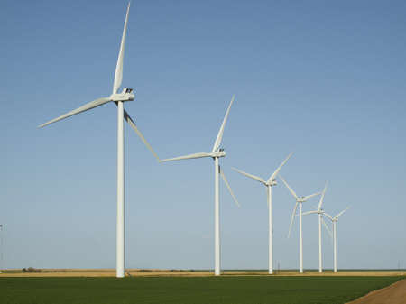Wind turbines farm in Limon, Colorado. Stock Photo - 13349973