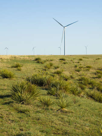 limon: Wind turbines farm in Limon, Colorado.