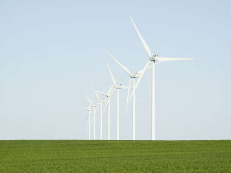 Wind turbines farm in Limon, Colorado. Stock Photo - 13349978
