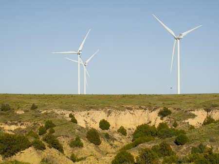 Wind turbines farm in Limon, Colorado. photo