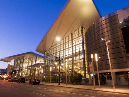 Colorado Convention Center at sunrise. Editorial