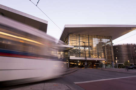 16th street mall: Colorado Convention Center at sunrise. Editorial