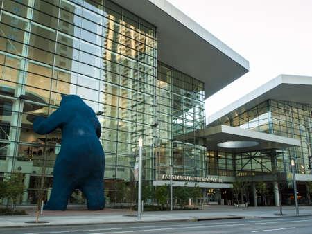 Colorado Convention Center at sunrise.