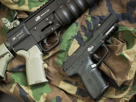 FN Five-seveN and HAVOC Launcher ready to be used.