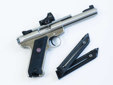 The Ruger MK III is a .22 long rifle semi-automatic pistol manufactured by Sturm, Ruger & Company. It is the successor to the Ruger MK II. 報道画像