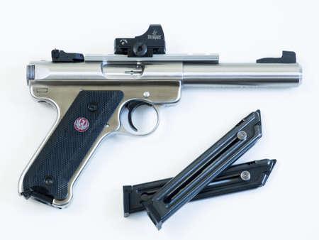 mk: La Ruger MK III es un rifle calibre 22 largo pistola semiautom�tica fabricada por Sturm, Ruger & Company. Es la sucesora de la II Ruger MK.