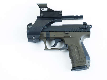Walther P22 is a semi-automatic pistol manufactured by Carl Walther GmbH Sportwaffen. Editorial