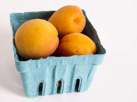 The apricot fruit is a drupe similar to a small peach, from yellow to orange, often tinged red on the side most exposed to the sun; its surface can be smooth or velvety with very short hairs. The flesh is usually firm and not very juicy.Its taste can rang Stock Photo - 13700129