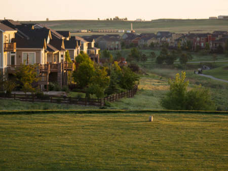 erie: Suburban subdivision in town of Erie, Colorado.