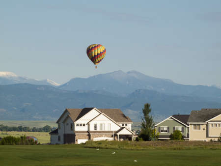 Suburban subdivision in town of Erie, Colorado. Stock Photo - 13808464