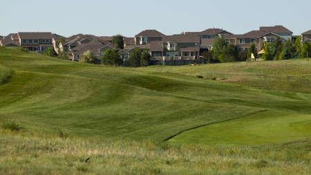 Suburban subdivision in town of Erie, Colorado. photo