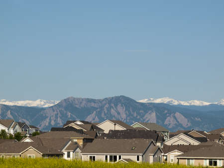 Suburban subdivision in town of Erie, Colorado. photo