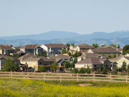 suburban: Suburban subdivision in town of Erie, Colorado.