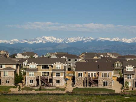 Suburban subdivision in town of Erie, Colorado.