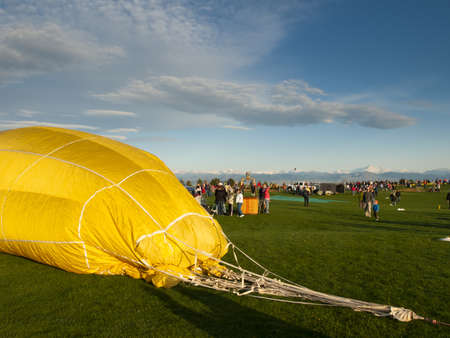 2012 Erie Town Fair and Balloon Festival. The balloon event is part of a day long street fair in the town of Erie.