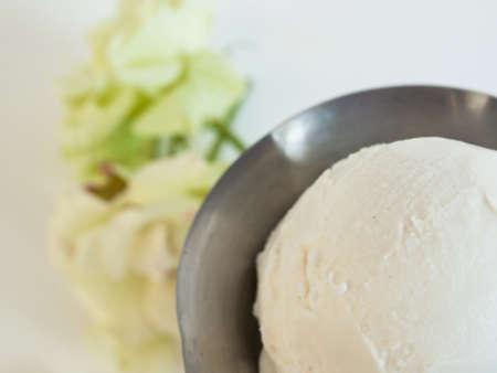 Scoop of delicious Italian fresh ice cream on white background. Stock Photo - 13862020