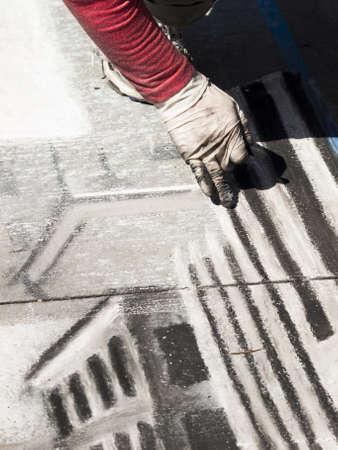 2012 Denver Chalk Art Festival on Larimer Square. Denver, Colorado. Stock Photo - 13999137