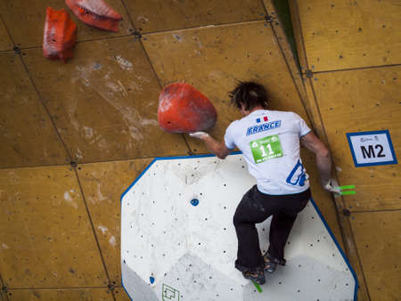 Bouldering event  at 2012 Summer Teva Mountain Games. Vail, Colorado.