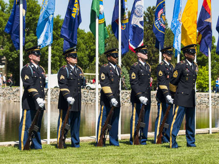 Memorial Day weekend at Fort Logan National Cemetery.