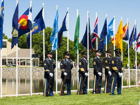 fort logan national cemetery: Memorial Day weekend at Fort Logan National Cemetery.