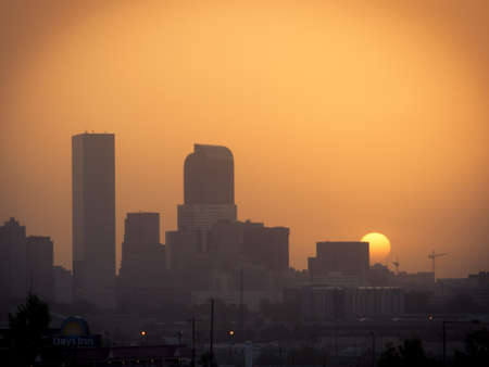 Denver skyline at sunrise. Colorado.