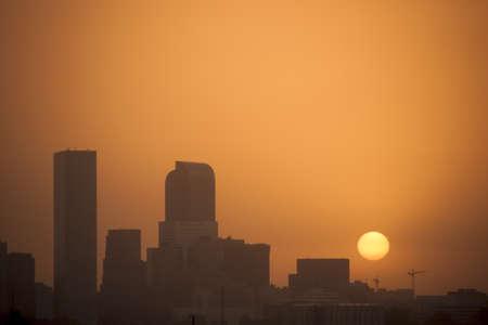 denver skyline at sunrise: Denver skyline at sunrise. Colorado. Editorial