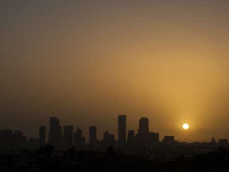 denver at sunrise: Denver skyline at sunrise. Colorado. Editorial
