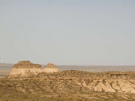 pawnee grassland: The Pawnee Buttes are two prominent buttes located within the Pawnee National Grassland in Weld County, of northeastern Colorado. Buttes are erosional remnants left standing in isolation as the surrounding High Plains surface has gradually worn away Editorial